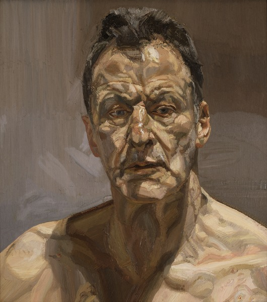 Lucian Freud (1922-2011): Reflection (Self Portrait), 1985 (oil on canvas) / Private Collection / © The Lucian Freud Archive / Bridgeman Image | IMMA Collection Freud Project, 2016 – 2021 | Friday 21 October 2016 – October 2017 | Irish Museum of Modern Art