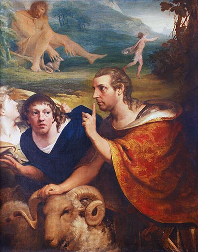 James Barry (1741-1806): Portraits of Burke and Barry in the Characters of Ulysses and a Companion, fleeing from the Cave of Polyphemus (c.1776) | What's the story? | Wednesday 28 June 2017  – Saturday 20 January 2018 | Crawford Art Gallery