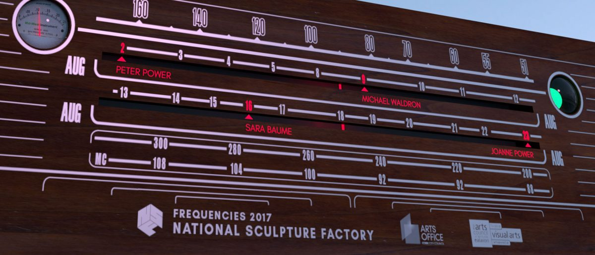 Frequencies Summer Lecture Series | Wednesday 2 August  – Wednesday 23 August 2017 | National Sculpture Factory