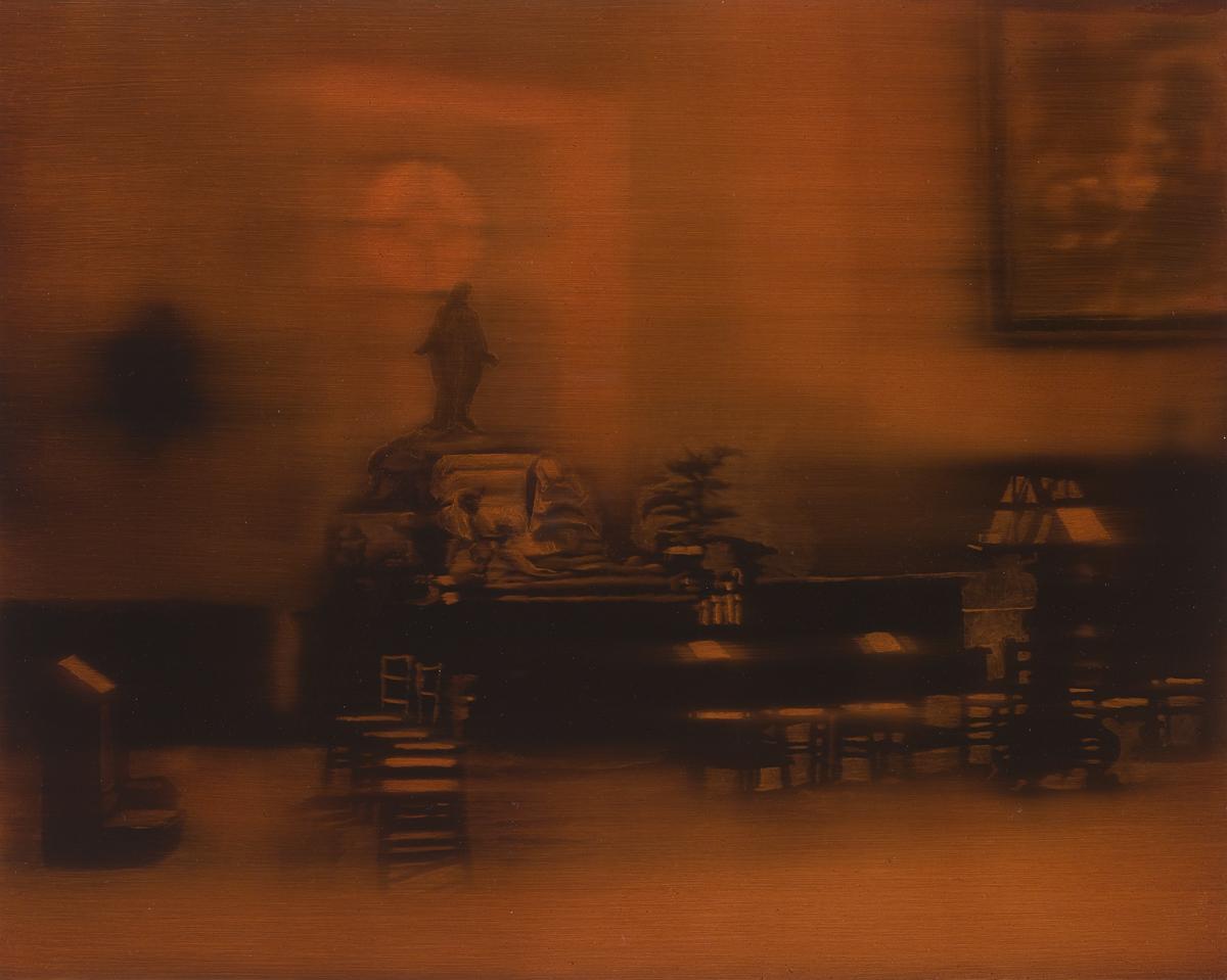 Paul Nugent: Untitled IV (Séance),oil on bord,46 x 56cm (framed), 2017 | Paul Nugent: Obscura | Thursday 14 September  – Saturday 14 October 2017 | Kevin Kavanagh