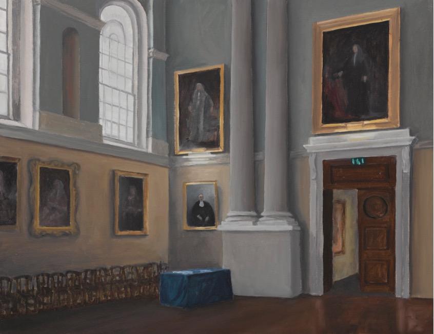 Eithne Jordan: Dining Hall II, 2017.Courtesy of the artist. | Eithne Jordan: Tableau | Thursday 12 October 2017  – Sunday 14 January 2018 | Dublin City Gallery The Hugh Lane