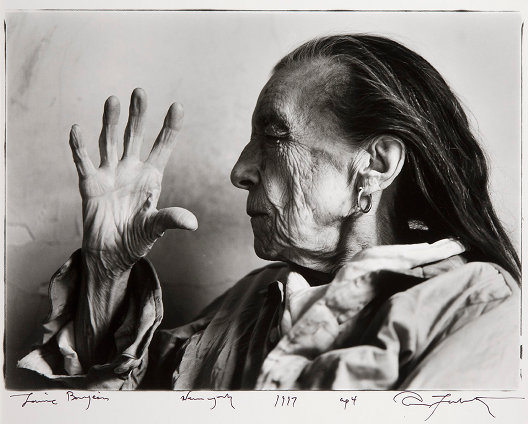 Annie Liebovitz: Louise Bourgeois, New York,1997  , Gelatin silver print. Edition of 25. 29.2 x 40 cm. Courtesy of the Liebovitz Studio | Out of the Dark Room: The David Kronn Collection | Wednesday 20 July  – Sunday 9 October 2011 | IMMA
