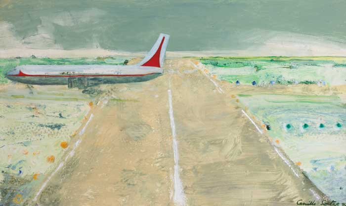 Camille Souter, Shannon Series Painting, 1980, oil on paper, 44 x 74 cm, Collection Irish Museum of Modern Art, Purchase, 2007   | IMMA Collection: Fragments | Friday 1 May  – Sunday 26 July 2015 | IMMA