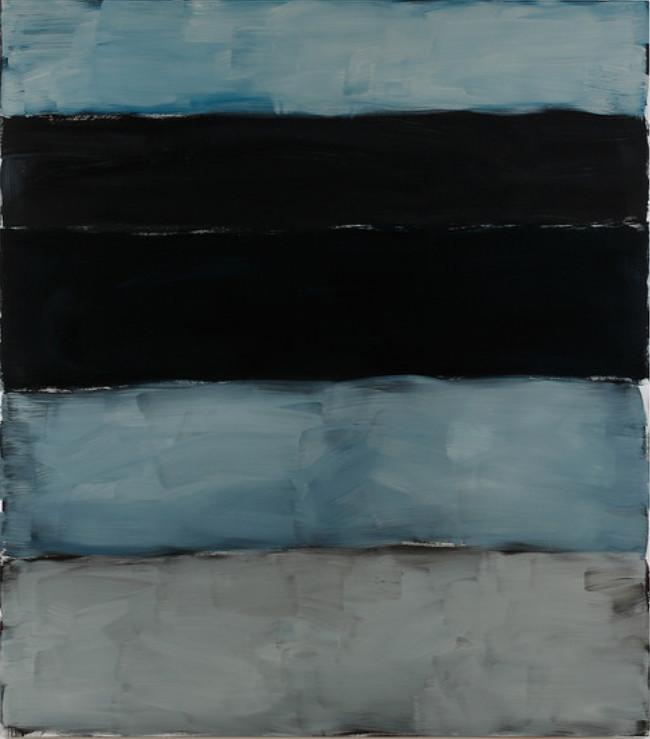 Sean Scully, Landline Black Line, 2014, oil on aluminium, 215.9 x 190.5 cm /85 x 75 in | Sean Scully: Home | Friday 26 June  – Saturday 29 August 2015 | Kerlin Gallery