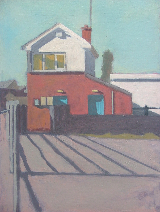 Vida Pain:Railway Residence, oil on board, 30 x 40cm, 2016 | Vida Pain: The Provincial Condition | Tuesday 14 June  – Saturday 6 August 2016 | Roscommon Arts Centre