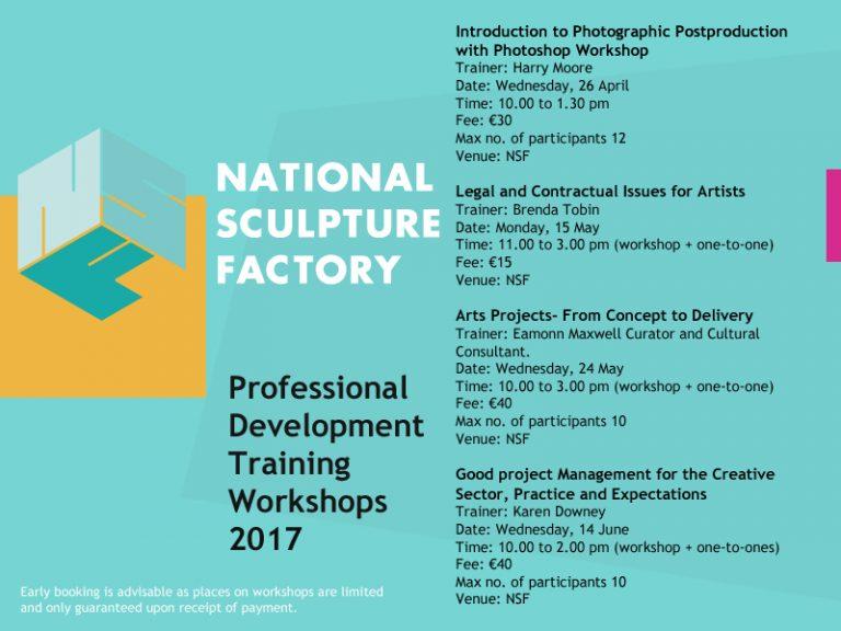 NSF Professional Development Training Workshops 2017 | April to June 2017  | National Sculpture Factory