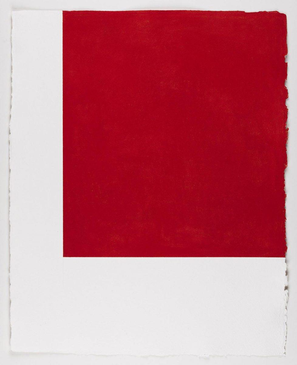 Callum Innes: Untitled, 2017, pastel on Two Rivers paper, 76 x 61 cm / 29.9 x 24 in unframed | Callum Innes | Friday 8 September  – Saturday 14 October 2017 | Kerlin Gallery