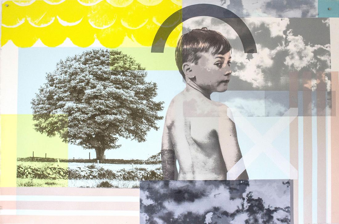 Debbie Godsell: The infinite whatever, screen print on paper, 120 cm x 80 cm, 2016 | Debbie Godsell: The infinite whatever | Friday 1 September  – Saturday 28 October 2017 | Garter Lane Arts Centre