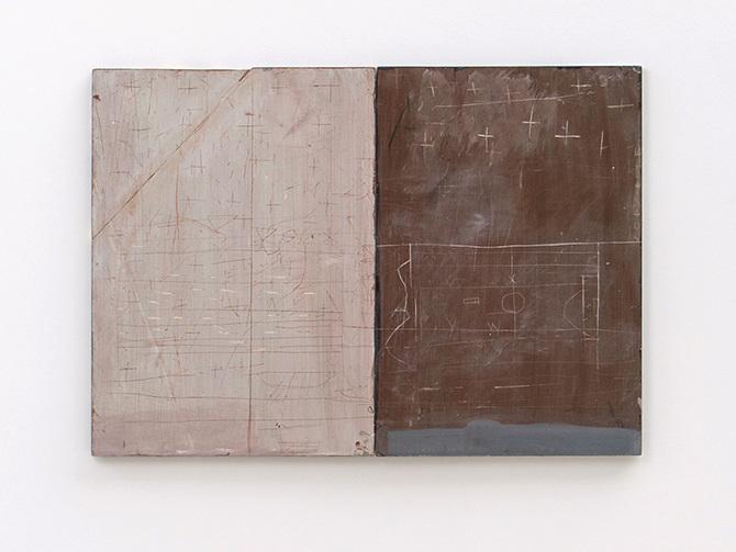 David Quinn, plan, 2015, acrylic gouache and polychromo on plywood, 98 x 69.5cm | David Quinn | Wednesday 7 March  – Tuesday 10 April 2018 | Uillinn: West Cork Arts Centre