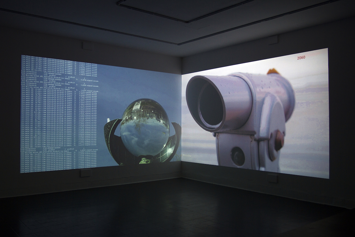 Martina O'Brien: Peripheries, two-channel HD video projection, audio, 9 minutes 25 seconds, looped
