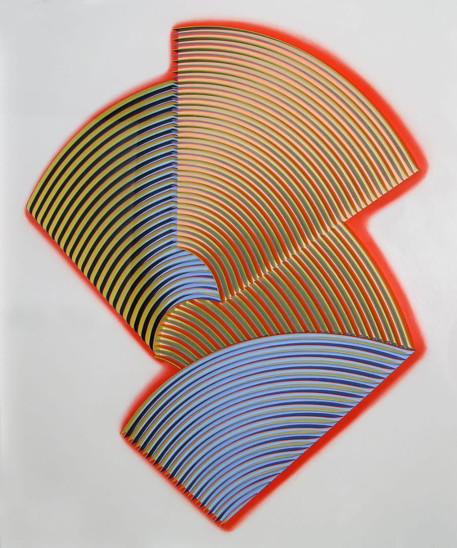 Peter Monaghan: Fold XXI, 102 x 109cm, mixed media | Christmas Group Show | Saturday 1 December 2018  – Tuesday 8 January 2019 | Gormley's Fine Art, Dublin