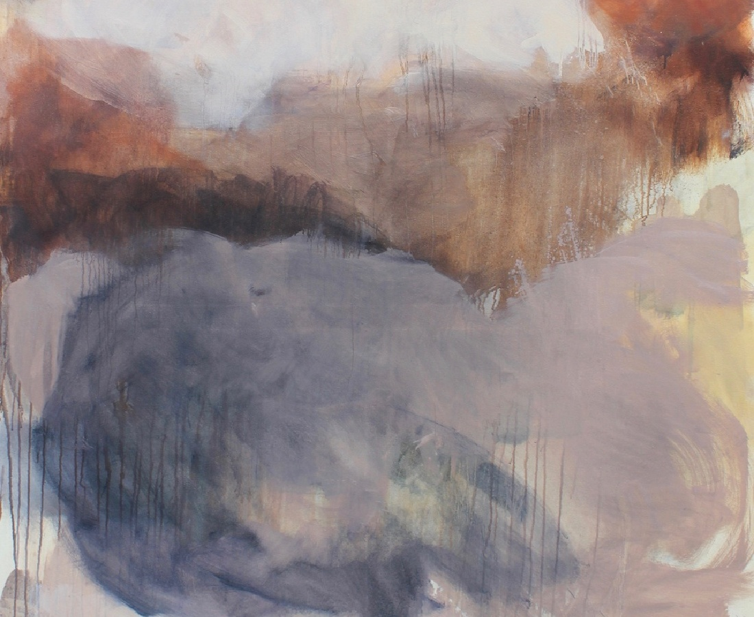 Leah Beggs: Rosey Retrospection, oil on canvas, 150 x 120cm | Leah Beggs: The Space Between | Friday 11 January  – Saturday 2 February 2019 | Solomon Fine Art