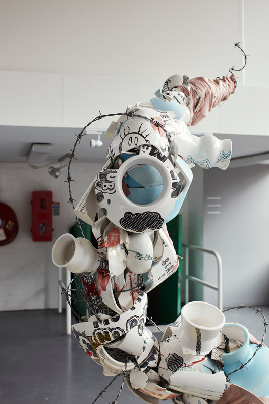 Shane Keeling, Ceramic Sculpture | Shane Keeling: BAD-MAN Oh Man | Monday 14 January  – Saturday 16 February 2019 | Wexford Arts Centre