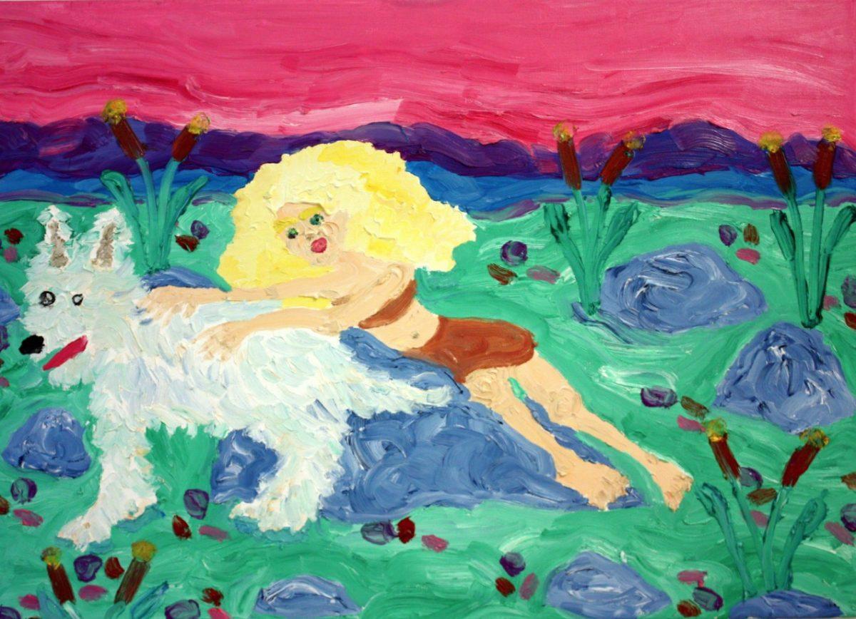 Amanda Doran,Lonely Island Woman, 2018, 50 x 70cm, Image courtesy of the artist. | Amanda Doran: Flora & Fauna | Friday 18 January  – Sunday 10 February 2019 | Royal Hibernian Academy