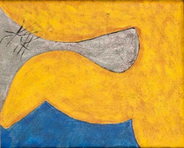 Roger Hilton:Untitled, 1967, oil and charcoal on canvas, 26 x 34 cm | ModBrit | Thursday 21 February  – Saturday 23 March 2019 | Hillsboro Fine Art