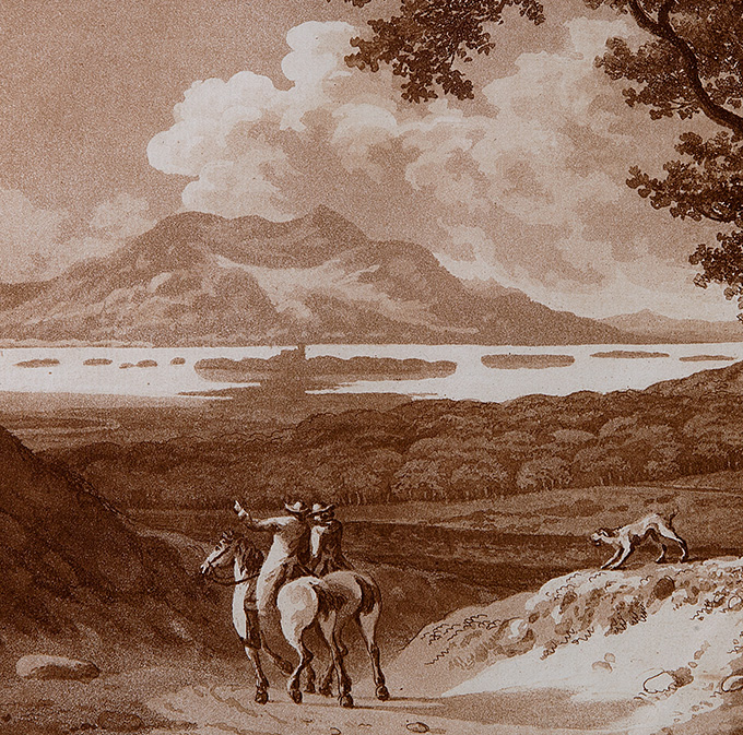 Jonathan Fisher, Ist View of Killarney (detail), 1789. © Crawford Art Gallery | That Abrupt Magnificence: Jonathan Fisher's Views of Killarney | Saturday 23 February  – Sunday 9 June 2019 | Crawford Art Gallery