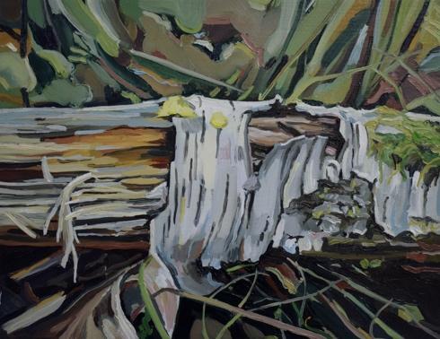 Cecilia Danell,Birch, 2018, oil on canvas, 27 x 35cm; courtesy the artist | Cecilia Danell: In a Landscape | Friday 15 March  – Monday 22 April 2019 | Royal Hibernian Academy