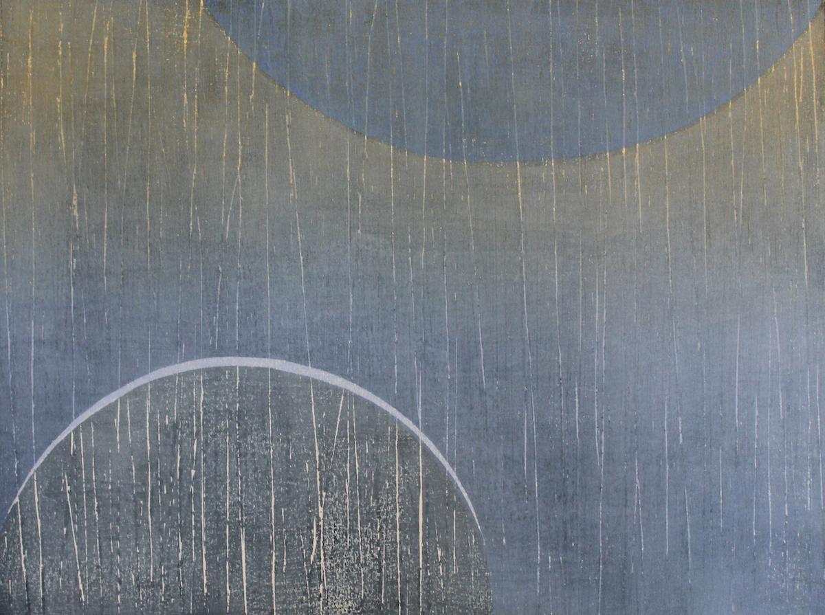 Kate MacDonagh, Indigo Moon Series II | Maria Simonds-Gooding and Kate MacDonagh: Echoes | Thursday 11 April  – Saturday 4 May 2019 | Graphic Studio Gallery
