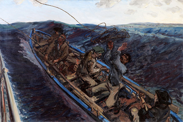 Jack B. Yeats (1871-1957): Off the Donegal Coast, 1922; Gibson Bequest Fund from the artist, 1924 | The Gibson Bequest 1919-2019: Selecting, Collecting and Philanthropy | Friday 3 May 2019  – Sunday 19 January 2020 | Crawford Art Gallery