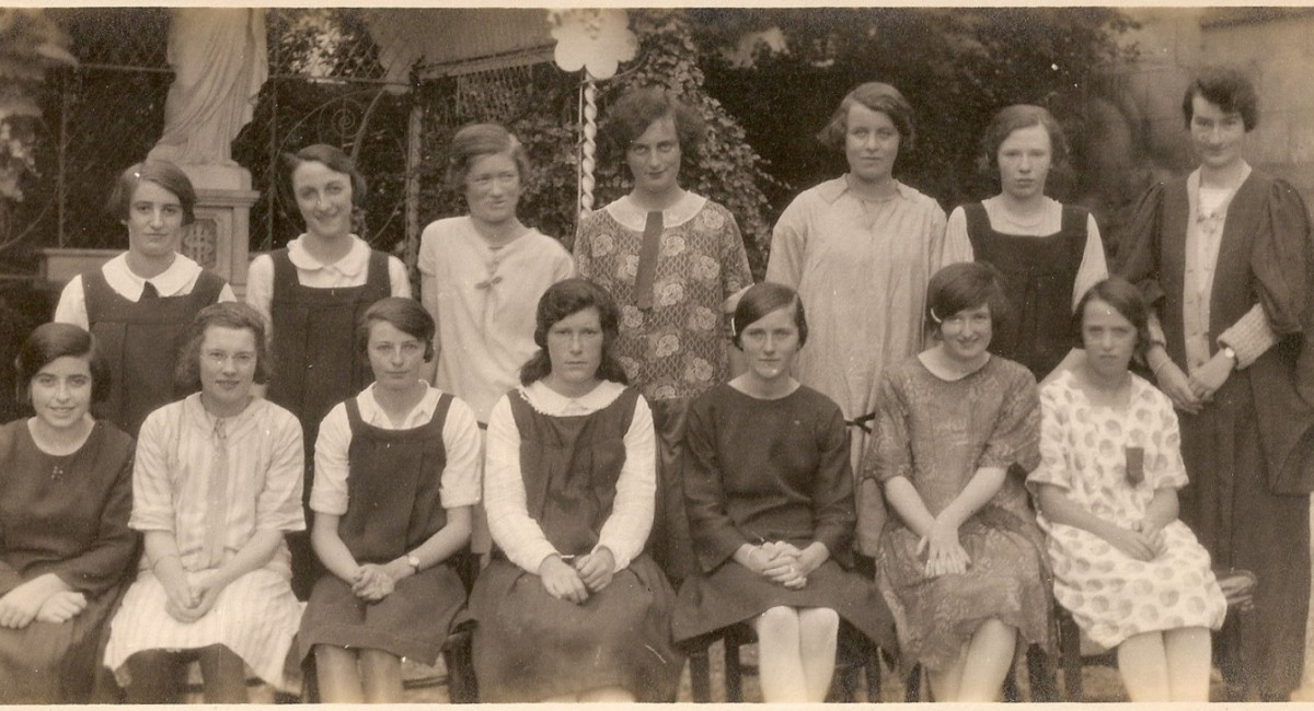 St. Mary's pupils (Convent Terrace) mid 1920s. Mary (May) McGrath back row, far left. | School Days: Cobh & Great Island | Thursday 2 May  – Sunday 7 July 2019 | Sirius Arts Centre