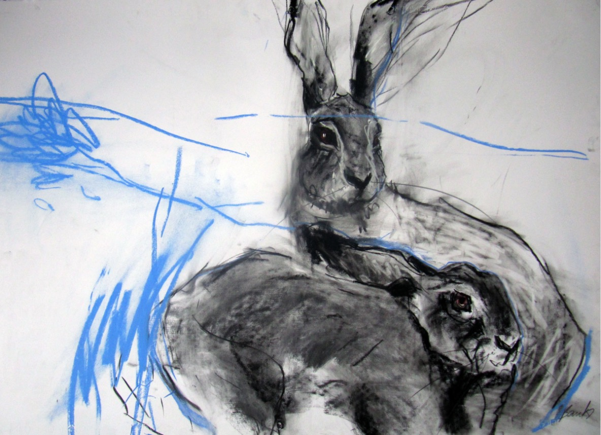 Margo Banks: Two Hares 4 | Easter Group Show | Friday 12 April  – Saturday 11 May 2019 | Solomon Fine Art