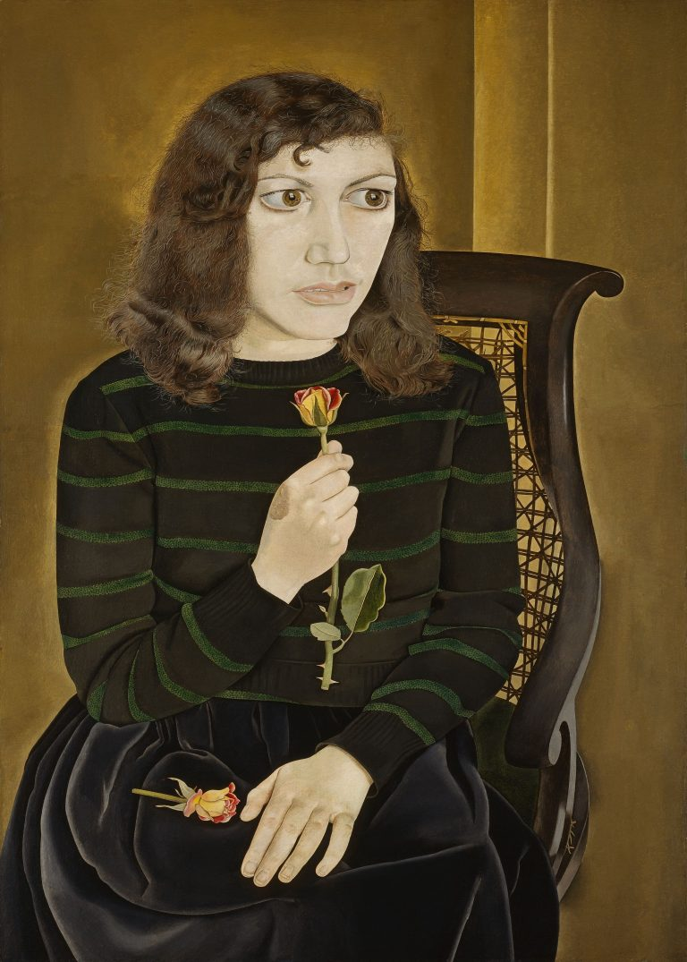 Girl with Roses / 1947-48 (oil on canvas) /  Freud, Lucian (1922-2011) / British Council, London, UK /  © The Lucian Freud Archive /  Bridgeman Images | Life above Everything | Friday 28 June 2019  – Sunday 19 January 2020 | IMMA