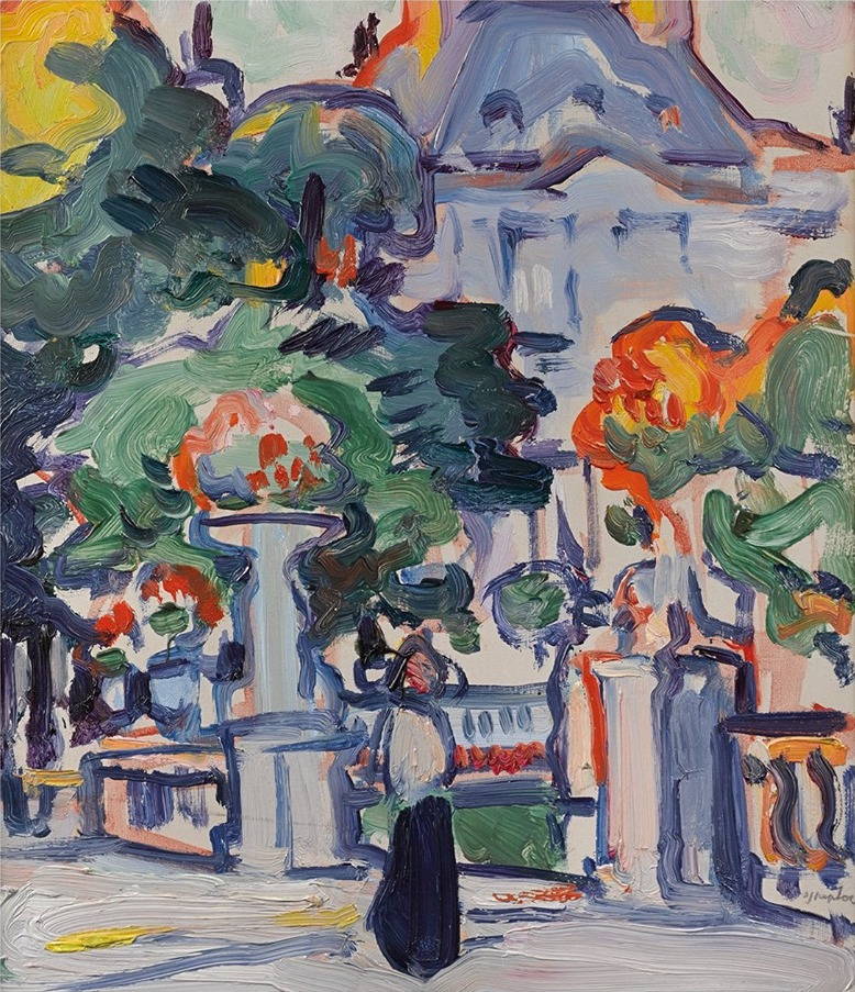 Samuel John Peploe: Luxembourg Gardens, c.1910 | Scottish Colourists from the Fleming Collection | Saturday 1 June  – Saturday 28 September 2019 | F.E. McWilliam Gallery