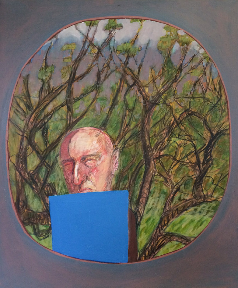 Brian Bourke: Ineluctable Blue, oil on canvas, 60 x 80cm   Brian Bourke: Contemplating the Ineluctable   Friday 28 June  – Saturday 20 July 2019   Taylor Galleries