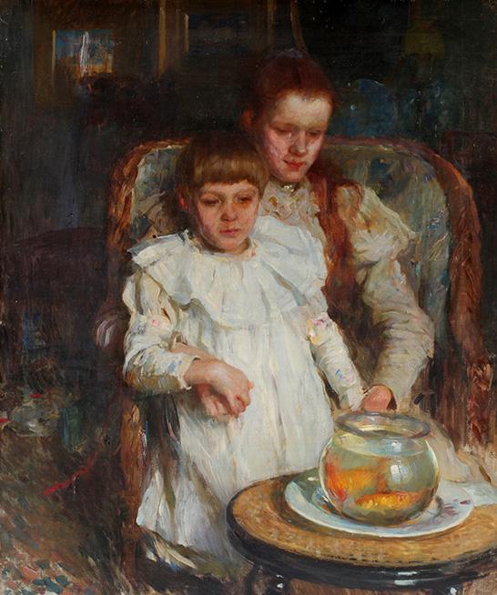 Walter Frederick Osborne RHA: The Goldfish Bowl, c. 1900 | Seen not Heard | Friday 28 June  – Monday 28 October 2019 | Crawford Art Gallery