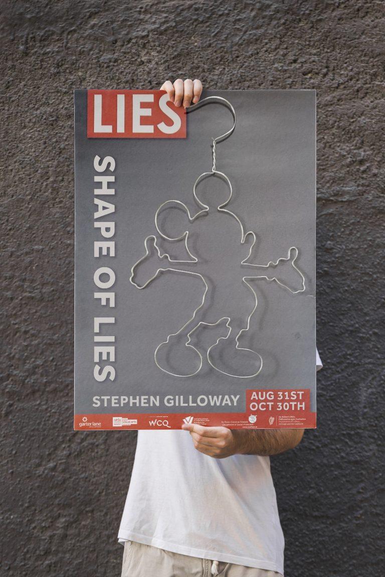 Stephen Gilloway: The Shape of Lies   Saturday 31 August    Garter Lane Arts Centre