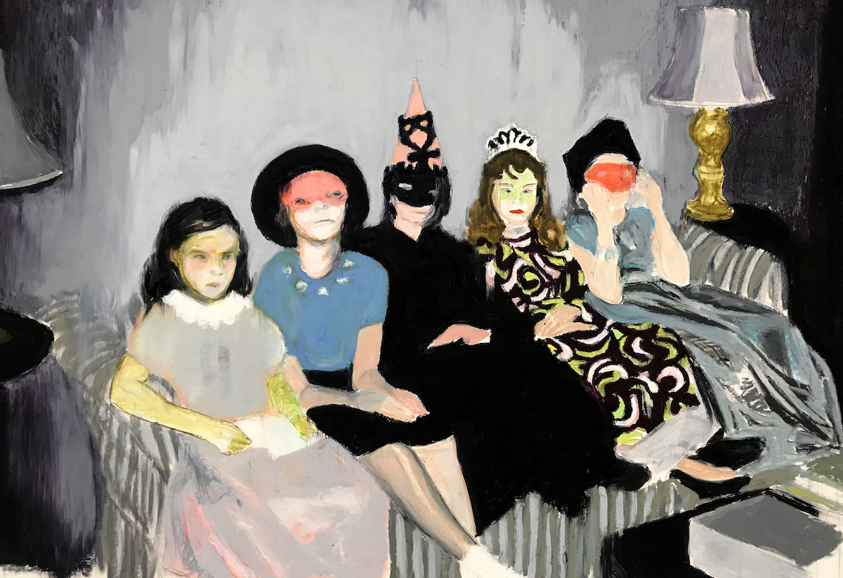 Mercedes Helnwein: Home Schoolers, oil pastel on paper, 76 x 102cm; represented by The Molesworth Gallery, Dublin | VUE | Thursday 7 November  – Sunday 10 November 2019 | Royal Hibernian Academy