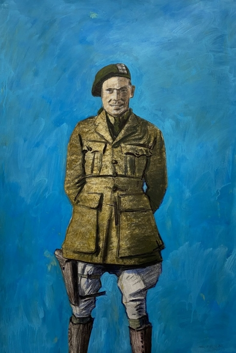 Mick O'Dea: The Cut of Him, acrylic, 110 x 75 cm, 2020 | Mick O'Dea: The Cut of Them | Friday 6 March  – Wednesday 22 July 2020 | Source Arts Centre