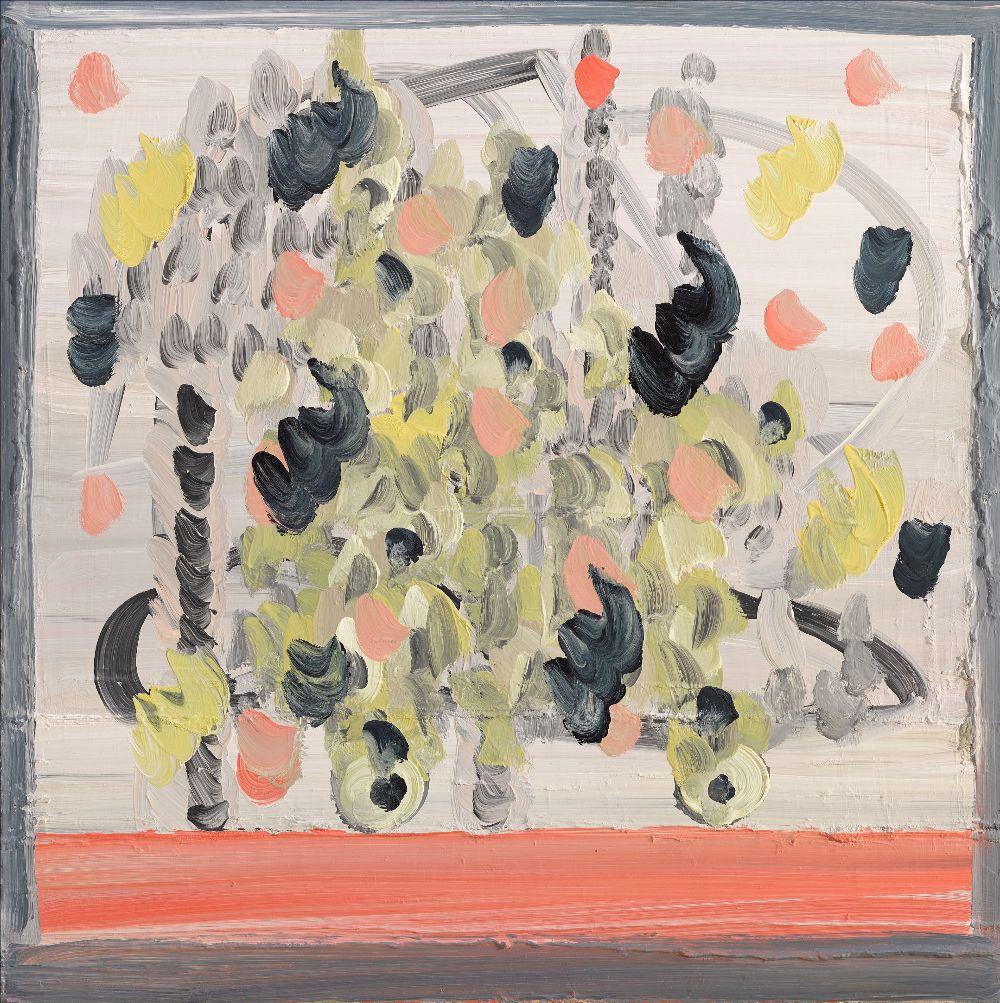 Sinéad Ní Mhaonaigh: Teorainn I, 70 x 70 cm, oil on canvas, 2020 | Sinéad Ní Mhaonaigh:Teorainn | Thursday 6 February  – Saturday 29 February 2020 | Kevin Kavanagh