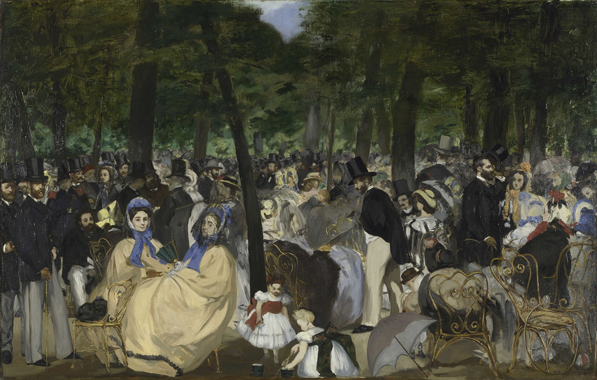 Edouard Manet, 'Music in the Tuileries Gardens'. Sir Hugh Lane Bequest, 1917. National Gallery, London | The Lane Legacy | Tuesday 21 January  – Sunday 19 April 2020 | Dublin City Gallery The Hugh Lane