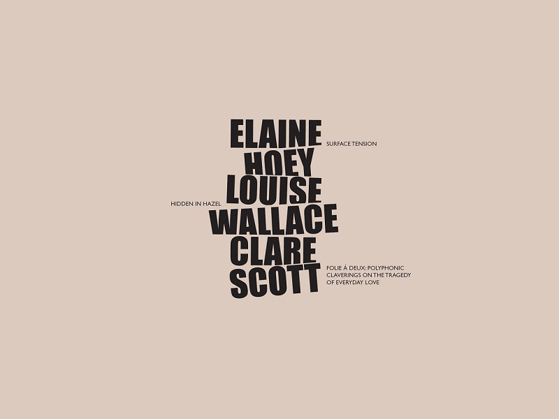 Solo Exhibitions by Elaine Hoey, Louise Wallace and Clare Scott | Saturday 15 February  – Saturday 28 March 2020 | Luan Gallery