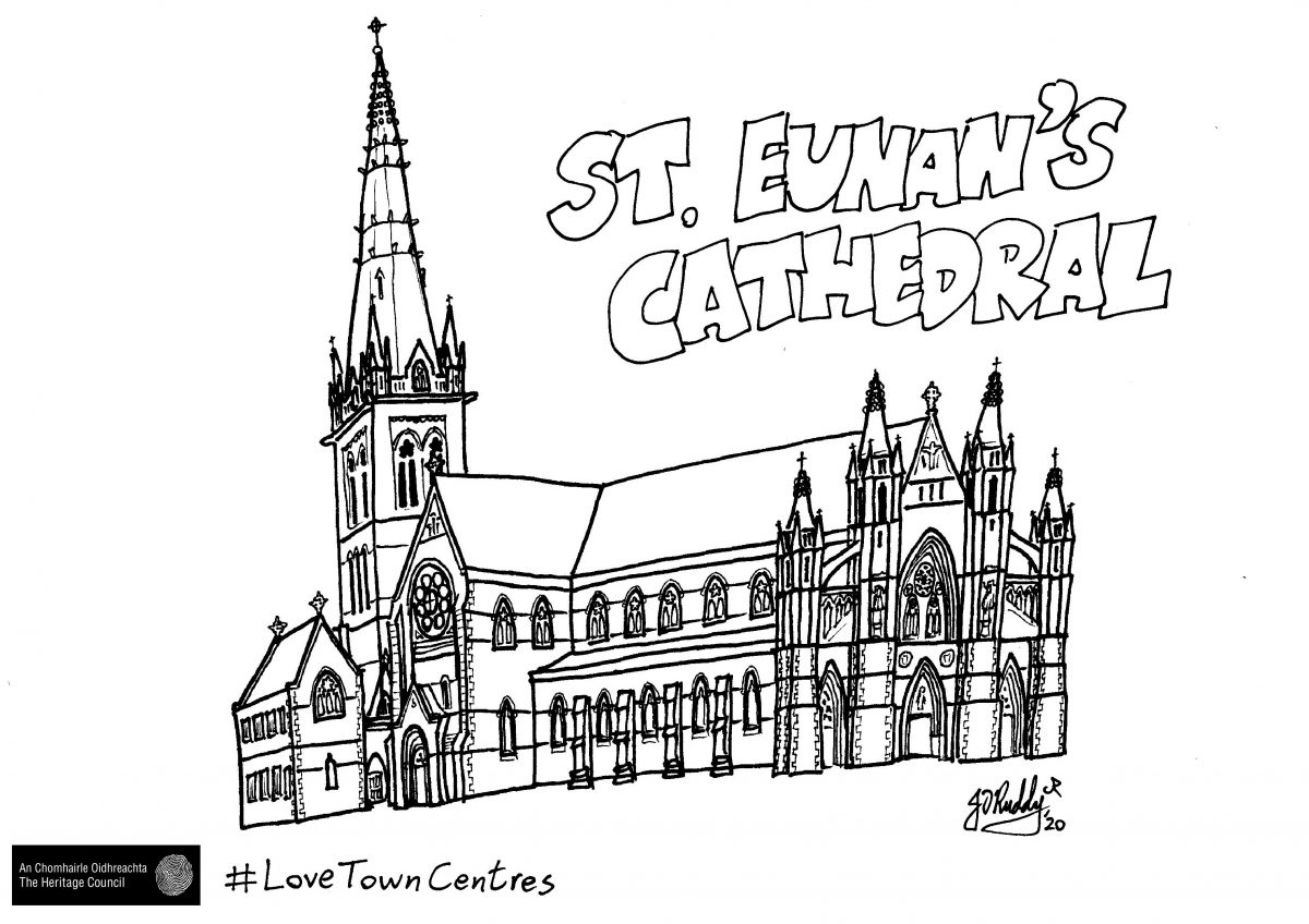 Letterkenny-St-Eunans-Cathedral-Colouring-Sheet