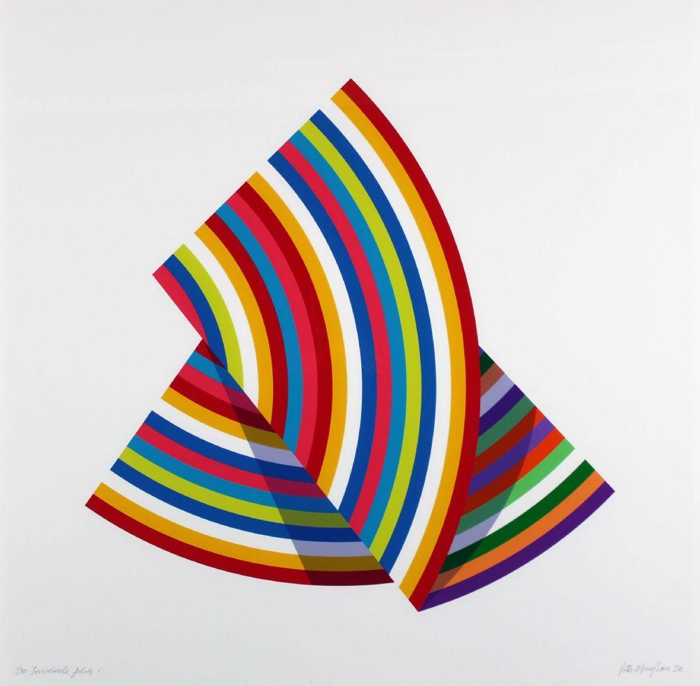 Peter Monaghan: Celestine Circles 3, 80 x 80 cm, Limited Edition Print | Peter Monaghan and Ian Davenport | Thursday 10 September  – Wednesday 30 September 2020 | Gormley's Fine Art, Dublin