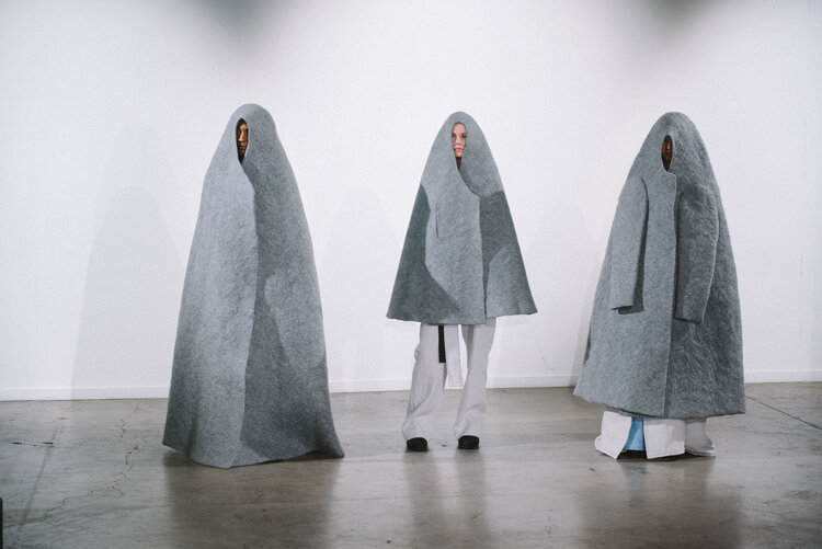 Alla Sinkevich: Set of three Dome Coats, Large Dome Coat, Small Dome Coat and Dome Coat with Sleeves | Generation | Friday 11 December 2020  – Saturday 23 January 2021 | Millennium Court Arts Centre
