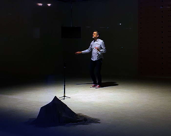 Ciarán O'Keeffe, Dance Alone, 2021, exterior shot of theNCAD Gallery,Spectacular Replica MFA Fine Art 2020 Graduates Exhibition, 2021 | Spectacular Replica | Thursday 21 January  – Thursday 28 January 2021 | NCAD Gallery