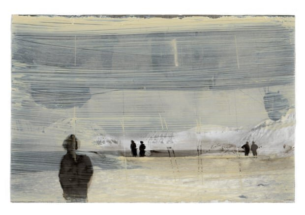 Siobhán McDonald: The ice silenced them, oil on paper, 15 x 9cm | Siobhán McDonald: Traces of Air | February – April 2021  | Uillinn: West Cork Arts Centre