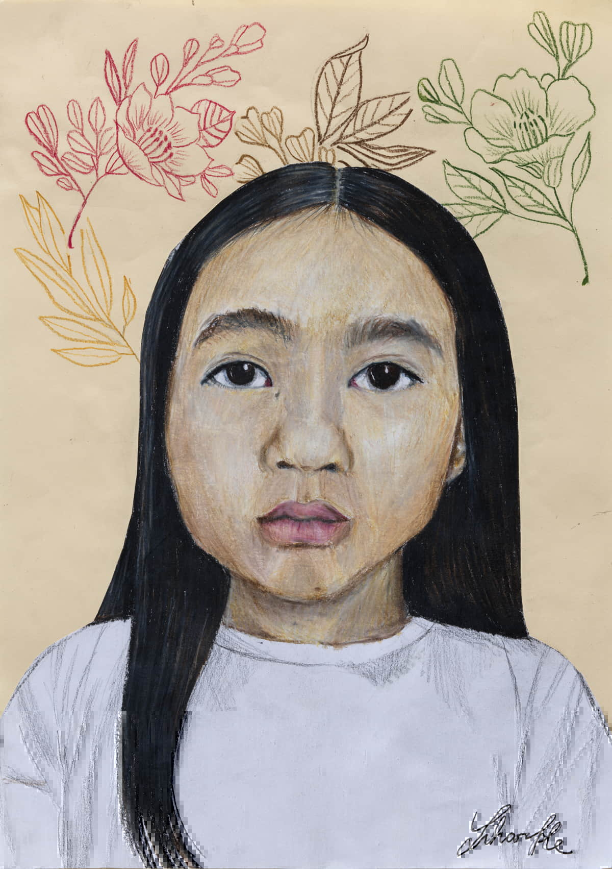 Zihan He: Me, pencil on paper | Zurich Young Portrait Prize 2020 | Viewable online from 1 April 2021; in venue 10 May – Sunday 11 July 2021 | Crawford Art Gallery