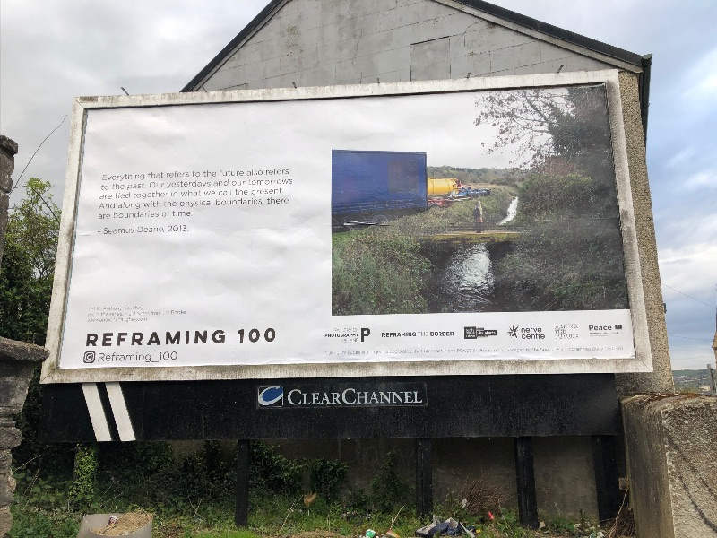 From the series 'Field Notes from the Border' byAnthony Haughey, @anthony_haughey#Reframing100; text extract courtesy: Seamus Deane   Reframing 100: Invitation to participate   ongoing, 2021  