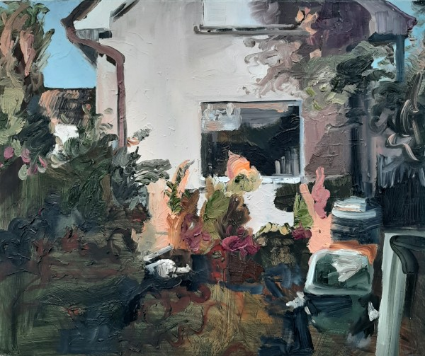 Eileen O'Sullivan: The work is in the under layer, 2020, oil on canvas, 50 x 60cm   Eileen O'Sullivan: Veiled and decorated   Monday 10 May – Monday 28 June 2021   Solstice Arts Centre