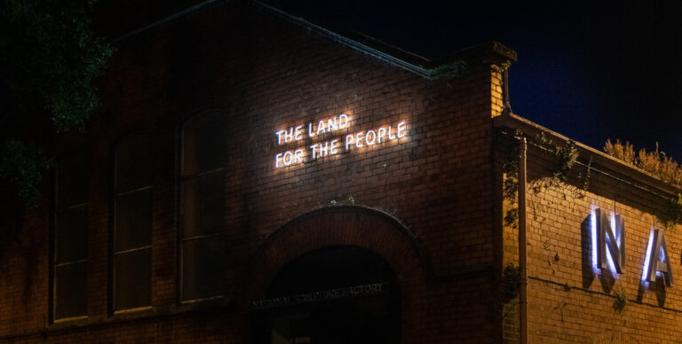 Eimear Walshe: The Land For The People; photo: Jedrzej Niezgoda   Eimear Walshe: The Land For The People   Monday 21 June – Tuesday 21 December 2021   National Sculpture Factory