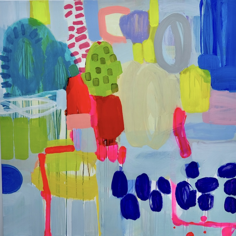 Taffina Flood, 'Somewhere in The Mix 1', Oil on Canvas, 120 x 120 cm   Taffina Flood: Work + Turn   Saturday 28 August – Saturday 25 September 2021   SO Fine Art Editions
