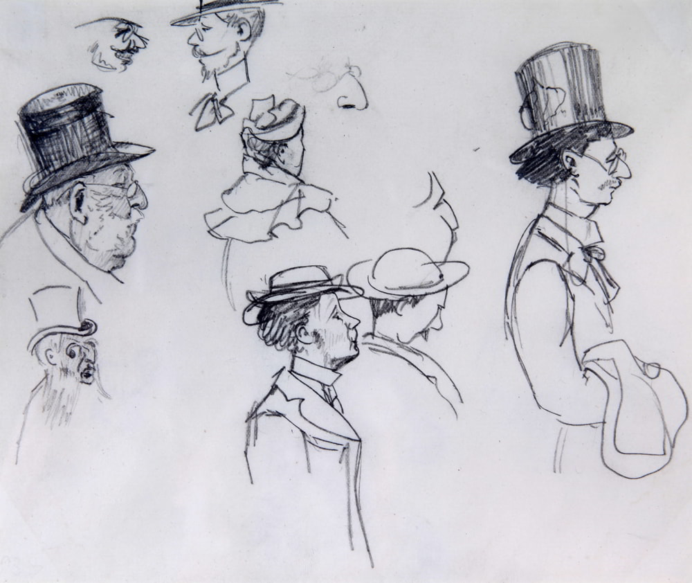 Edith Somerville, Character Sketches, c.1890   Edith Somerville: observations   Saturday 2 October – Sunday 5 December 2021   Crawford Art Gallery