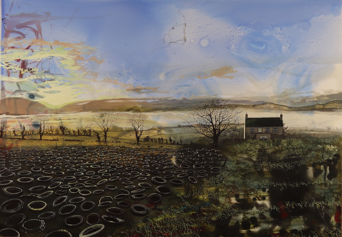 Ann Quinn: My Ancestral Home, oil on panel, 70 x 100 cm, 2020   Ann Quinn: North Calling   Friday 24 September – Saturday 16 October 2021   Taylor Galleries