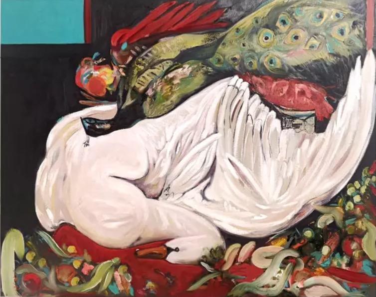 Serena Caulfield:Shapeshifter, oil on canvas, 2020 | Susan Buttner, Serena Caulfield, Anne Harkin-Petersen: Three Solo Exhibitions | Tuesday 28 September – Thursday 18 November 2021 | Luan Gallery